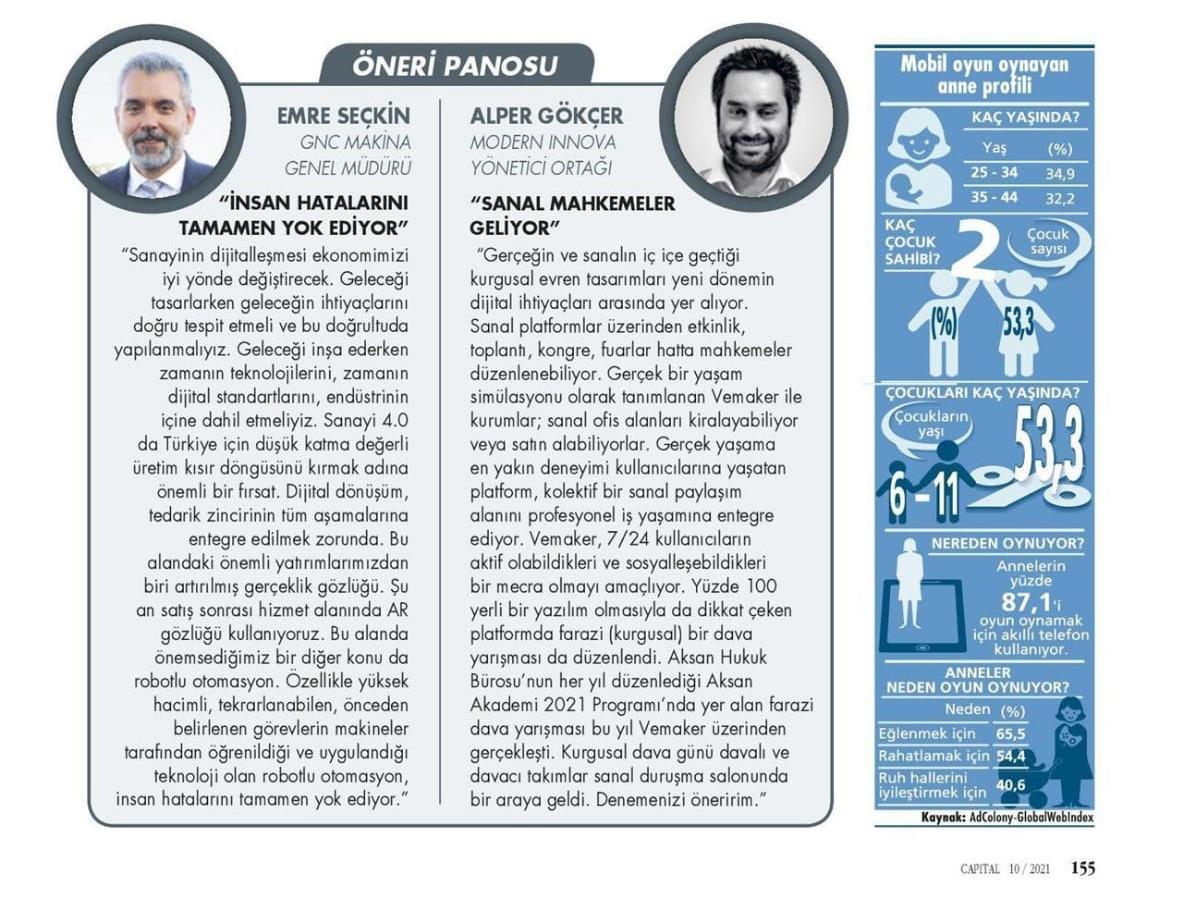 Capital Dergisi Röportaj