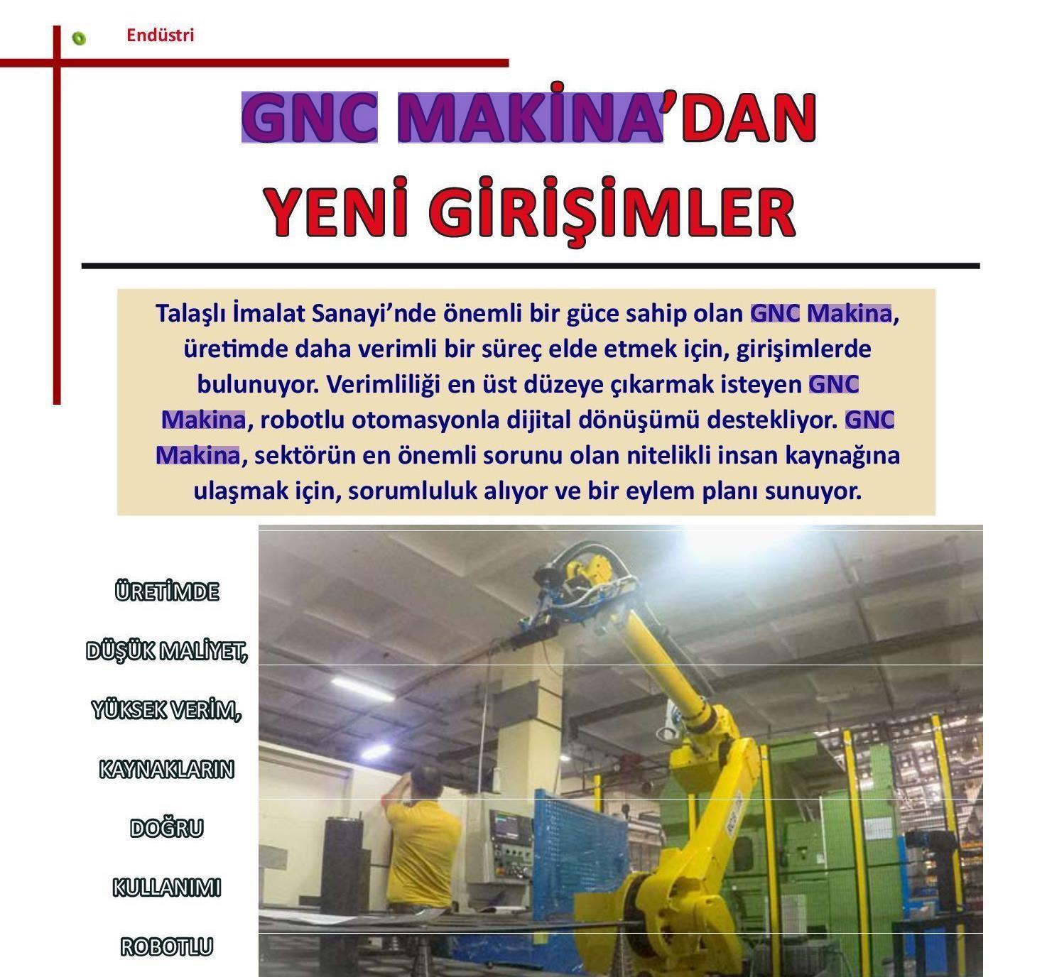 GNC Makina'dan Yeni Girişimler (Endüstri 4.0 Dergisi)