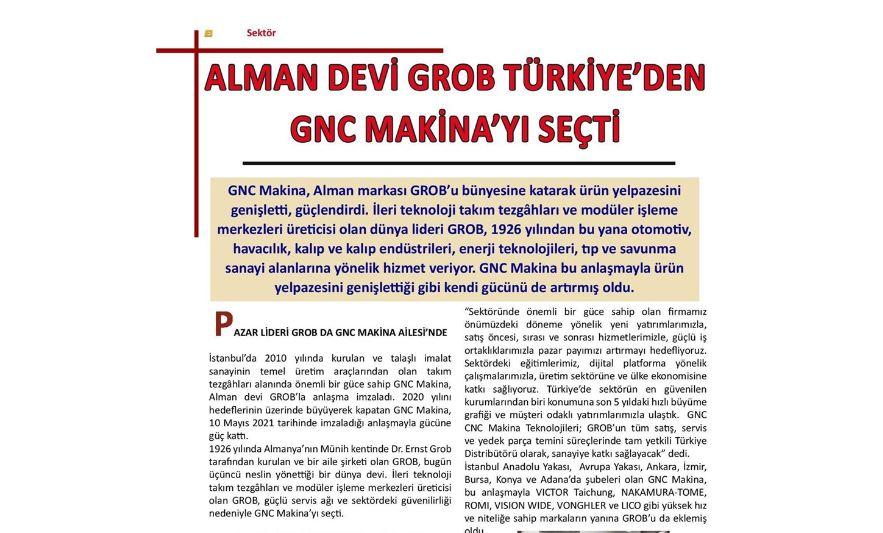 Alman devi GROB, Türkiye'den GNC Makina'yı Seçti