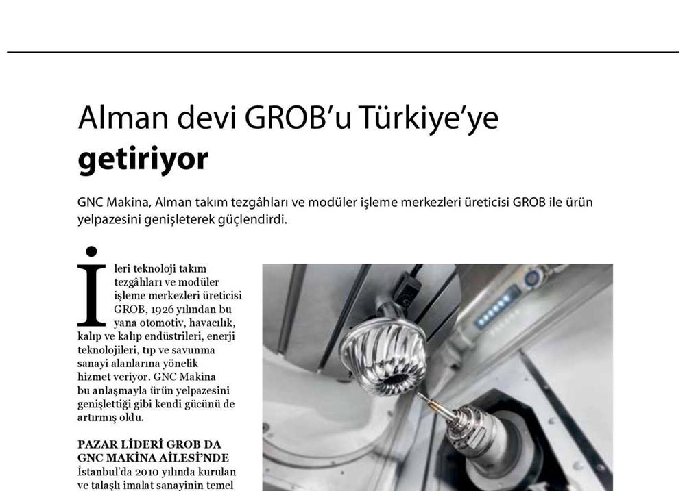 GNC Makina Alman Devi Grob'u Türkiye'ye Getiriyor